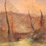 Le pont paysage d automne - Ravier