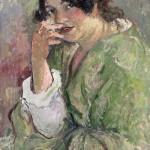 MANZAN_Portrait de Roboa 1904 HST 65x39cm